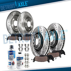 2007 2008 Audi A4 DRILLED Front Rear Brake Rotors Ceramic Pads $154.22