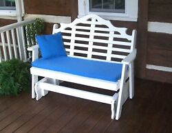 Poly 4' Marlboro Porch Glider - Choose From Multiple Colors - Amish Made In Usa