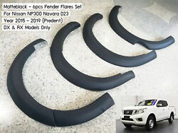 [a] 6 Fender Flares Wheel Arch For Nissan Np300 D23 Dx Rx 2015 - 2019 Low Ride