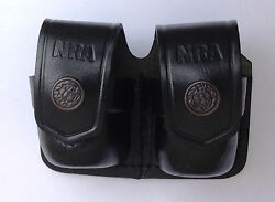 Leather Double Speed Loader Case - 038nra
