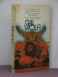 1st, Signed By Author, Qanar 3 Star Wolf By Ted White 1971,pbo Lancer Books