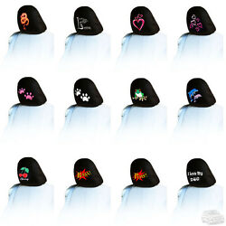 New One Piece Embroidery Logo Car Truck Auto Seat Headrest Cover Accessories