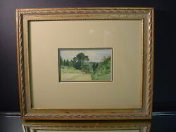 Listed Artist New York Thomas W Shields Milton Commons Dorking Watercolor 1880