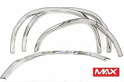 Ftfd217 93-15 Ford Econoline E-series Van Polished Stainless Steel Fender Trim