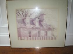 Williamsburg William Plante Signed Matted And Framed Vintage 24x28 Print