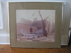 Williamsburg William Plante Signed Matted And Framed Vintage 32x28 Print