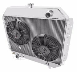 1966-79 Ford F-series And 1978-79 Bronco 2 Core Drradiator 12 Inch Fans V8 Eng