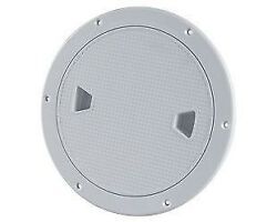 6andrdquo Seaflo Marine Screw Out Deck Plate Inspection Hatch Plastic Access Boat Rv