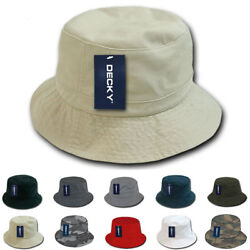 Decky Bucket Fishermen Boonie Hats Caps Washed Cotton Twill Fitted $10.95