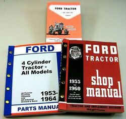 Lot Ford 611 621 631 Tractor Owner Operator Parts Service Repair Shop Manuals
