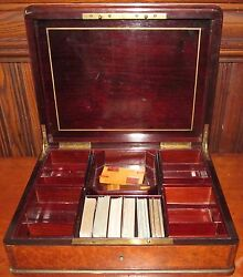 French Carpathian And Burled Elm Antique Game Box By Susse Feres Paris The Best