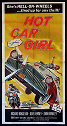 Hot Car Girl Vintage Hot Rod Exploitation Andrsquo56 Ford 1958 3-sheet Movie Poster