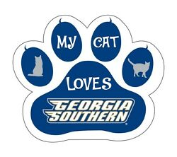 Georgia Southern Eagles Cat Paw Decal-my Cat Loves Georgia Southern Sticker