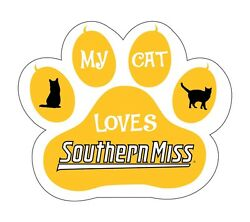 Southern Miss Golden Eagles Cat Paw Decal-my Cat Loves Southern Miss Sticker