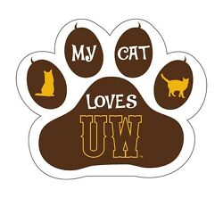 Wyoming Cowboys Cat Paw Decal-my Cat Loves Wyoming Sticker