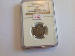 1728 Great Britain 6 P Plumes And Roses Ngc Xf 45