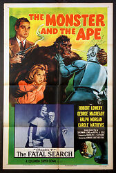 The Monster And The Ape Big Metallic Robot Sci-fi Serial R-1956 1-sheet