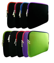 Neoprene Zip Case Sleeve For Various 9.7 - 10.1 Tablet Hp Dell Archos More ..