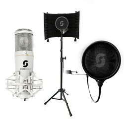Home Recording - SL150 USB Microphone Vocal Booth Pop Filter cables Reflexion