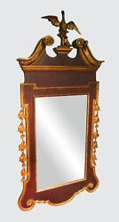 Freidman Brothers Chippendale Antique Style Constitution Mirror Carved Eagle