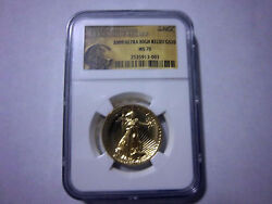 2009 Ultra High Relief G$20 NGC MS 70