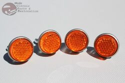 Amber License Fastener Body Panel Tailgate Reflectors Hot Rod Motorcycle Truck