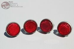 Red License Fastener Body Panel Tailgate Reflectors Hot Rod Motorcycle Truck