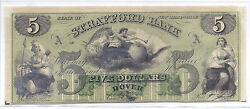 19th Century Us Obsolete Currency - Strafford Bank, Nh A - 5, Unissued Unc
