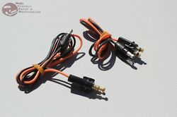 60-66 Chevy Fleetside Pickup Truck Tail Light Lamp Wire Pigtail Connectors Pair