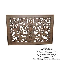 Outstanding Carved Wood Hanging Rococo Style Wall Plaque C
