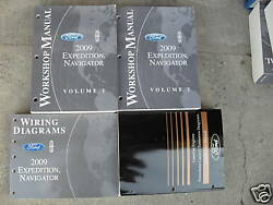 2009 FORD EXPEDITION & LINCOLN NAVIGATOR Service Shop Manual Set W PCED + EWD