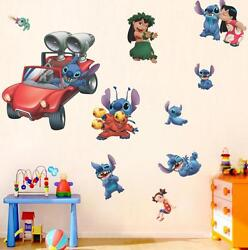 NEW Lilo amp; Stitch Removable Wall Stickers Decal Kids Room Home Decor US Seller