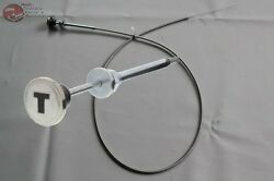Manual Throttle Cable Stainless Knob Chevy Truck Custom Car Hot Rat Rod Dash New