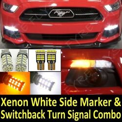 2015-2017 Mustang Super Bright Switchback LED Turn Signal & Side Marker package