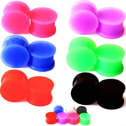 Pair-solid Large Lip Silicone Ear Skins-ear Gauges-soft Ear Plugs-ear Tunnels