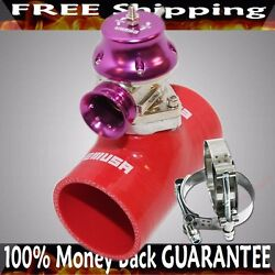 2.5 Red Silicone Type S Adapter+type S Bov+ss T-bolt Clamp Combo