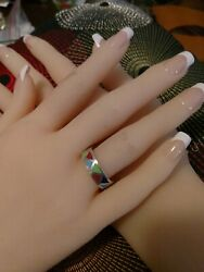 Vintage Multi Color Inlay Band Rings
