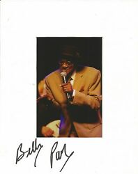 A 10 X 8 Inch Mount Personally Signed By Soul Singer Billy Paul.