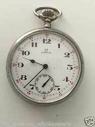 Rare Omega Antique Large Pocket Watch Open Face Hand-winding,running