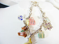 Christmas And Winter Charm Bracelet In 925 Sterling Silver