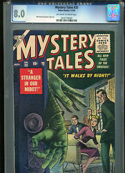 Mystery Tales 35 Cgc 8.0 2nd Highestoff-white To White Pages Everett Story