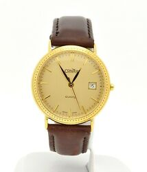 14k Solid Gold Condor Geneve Mens Swiss Watch Rare And Excellent Condition