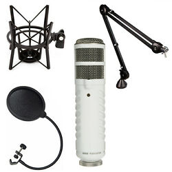 Rode Podcaster USB Mic Booming Kit w PSA1 Arm PSM1 Shock Mount
