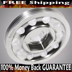 Silver Single Belt Crank Pulley For 94-01 Integra 88-00 Civic 88-91crx B16ab18a
