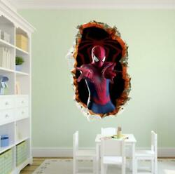 NEW 3D Spiderman Removable Wall Stickers FOR Kids Home Decal play room Decor USA