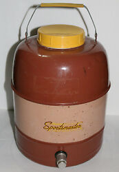 Vintage Metal Thermos/water Cooler/for Hot Or Cold Sportsmaster Columbian