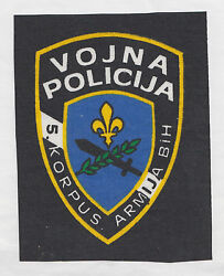 Bosnia Army - Battalion Of Military Police - 5th Corps  Sleeve Patch