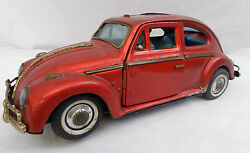 1960s bandai tin toy vw beetle sedan