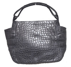 Gorgeous Designer Navy Blue Alligator Shoulder Bag Tote $3,800.00