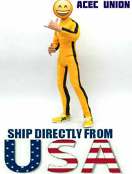 Bruce Lee 1 6 Game of Death Yellow Suit For 12quot; Hot Toys Male Figure USA SELLER